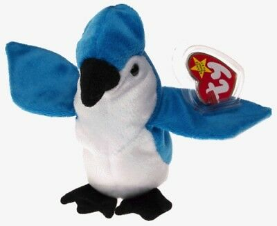 Beanie Baby Rocket the Blue Jay Bird With Tag and Tag Protector TY 1997