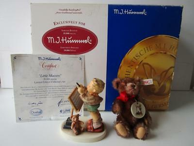 Steiff Hummel Little Maestro Ltd Ed Collectors Set HUM 826/1 Teddy Bear & Figure