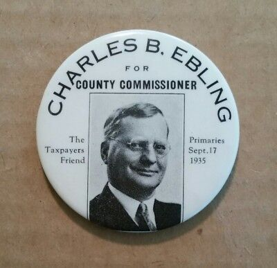 Charles B.Ebling For Berks County Pa.Commissioner,Pocket Mirror,1935