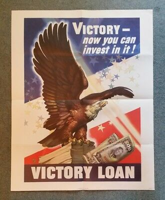 """""""Victory-Now You Can Invest in It"""" WWII Victory Loan Poster,1945"""
