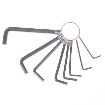 8 In 1 1.5mm~6mm Hex Key Allen Wrench Set Metric Hand Tool Kit Box Key Chain MRG