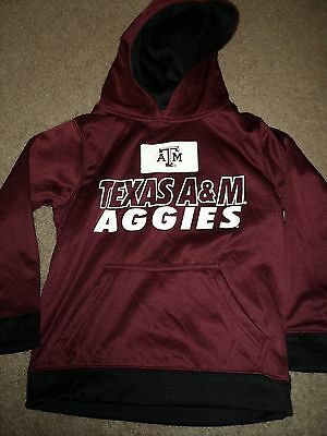 TEXAS A&M YOUTH HOODIE SHIRT SIZE S SMALL 6/7 AM Boys Girls NCAA NEW WITHOUT TAG