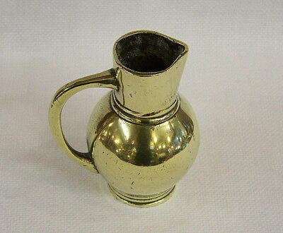 C1770 A Small & Heavy Antique Eighteenth Century Georgian Cast Brass Jug Pitcher
