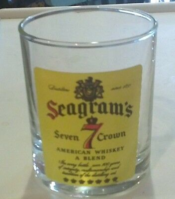 "Awesome Vintage ""seagram's 7 Crown"" Glass!! Tumbler"