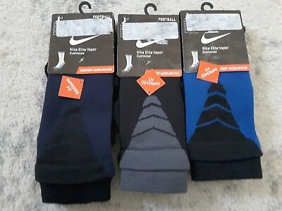 Nike Elite Vapor Cushioned Football Crew Socks Youth Multiple Colors/Sizes