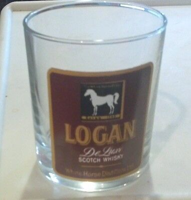 "Awesome Vintage ""logan De Luxe Scotch"" Glass!! Tumbler"
