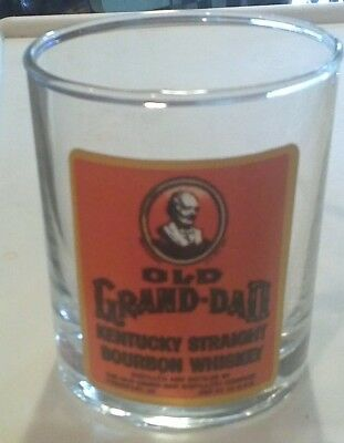 "Awesome Vintage ""old Grand Dad"" Glass!! Tumbler"