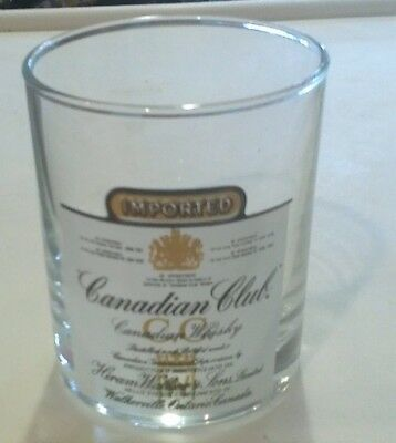 "Awesome Vintage ""canadian Club"" Glass!! Tumbler"