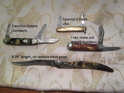 Lot of 4 used pocket knives Camillus Colonial  Junk drawer