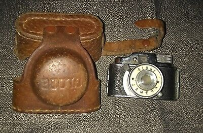 VINTAGE SUBMINIATURE MINI SPY CAMERA MADE IN JAPAN w/ LEATHER CASE *RARE*classic