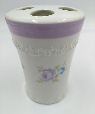 Simply Shabby Chic British Rose Toothbrush Holder