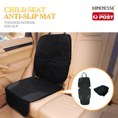 Baby Kids Children Car Booster Seat Protector Anti-Slip Mat Cover Safety Pockets