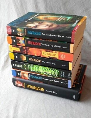 Lot of 7 PENDRAGON books D J MACHALE Series 1234569 Merchant Faar Never War  +