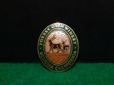 Forest Glen Winery Wine Country Sonoma California Souvenir Travel Lapel Hat Pin