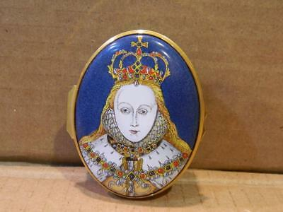 Halcyon Days Queen Elizabeth I Large Trinket Box 70/150 MIB 2003