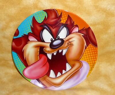 "tasmanian devil collectors plate 8"" diameter 1997 warner brothers looney tunes"