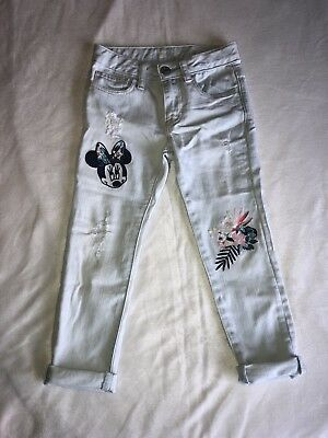 Gap Kids Disney Girls Size 4 Minnie Mouse Girlfriend Jeans