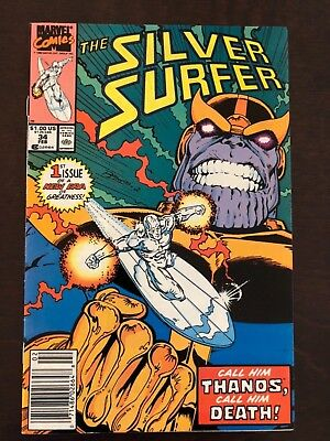 SILVER SURFER #34 NM+ 9.6 Infinity Gauntlet 1st Appearance Modern Thanos Starlin