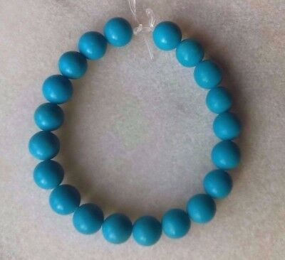 20 Arizona Sleeping Beauty Natural Blue Turquoise 5-5.5 mm Beads