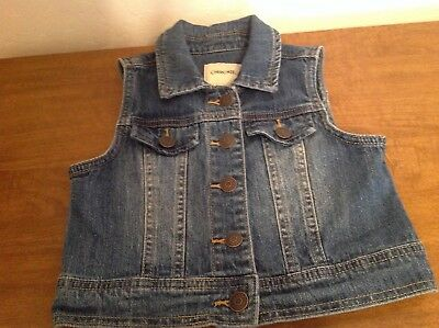 Cherokee Girls Classic Style Denim Vest. Size S/P 6/6X Very Good Condition.