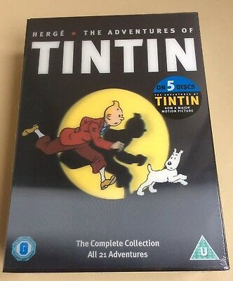 The Adventures of Tintin By Herge DVD Complete Collection Hologram Cover NEW