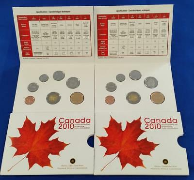 2-2010 CANADA 7 coin MINT SETS in original packaging      L1932