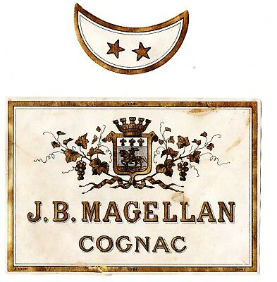 1870s J. B. MAGELLAN DISTILLERY, COGNAC, FRANCE COGNAC LABEL SET