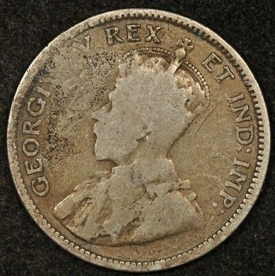 1913 Canada 10 Cents Scarce Broad/large Leaves Variety