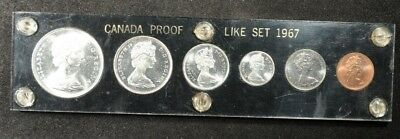 1967 Canada 6-Coin Prooflike Set In Capital Plastics Holder