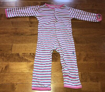 KicKee Pants Toddler Girl Soda Pop Stripe Coverall 12-18 Months Old Fit