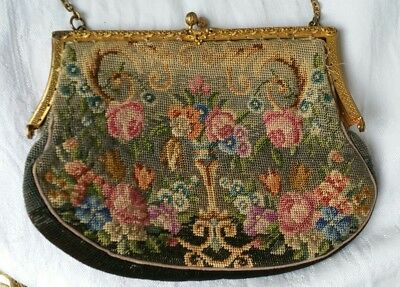 Vintage Purse Hand Stitched Retro Early Antique Collectable Rare Find Needs Tlc