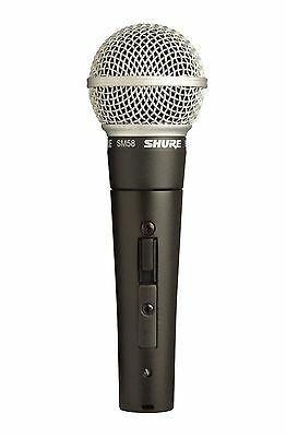Shure SM58S Dynamic Vocal Microphone with On Off Switch DJ Equipment