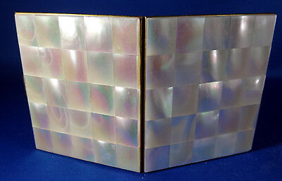 Vintage Mother Of Pearl Both sides Makeup Compact - Nice Clean