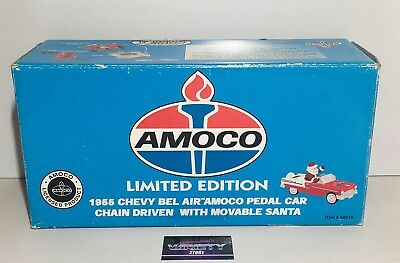1955 Chevy Belair Amoco Pedal Car Limited Edition w/  Movable Santa Die Cast NEW