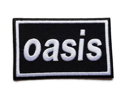 New Oasis Music Rock Pop Embroidered Logo Symbol Ironon Patch Shirt Fabric Po789