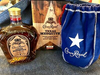 "Crown Royal Texas Mesquite Limited Edition Set ""Empty"" Bottle, Bag, Box"