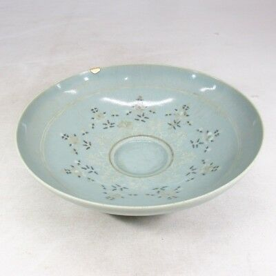 D044: Korean bowl as KASHIKI of Goryeo inlaid celadon porcelain style