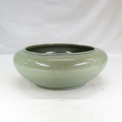 B836: Korean biggish bowl of Joseon-Dynasty blue porcelain of appropriate tone
