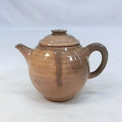 D158: Japanese OLD HAGI pottery teapot for green tea SENCHA with good atmosphere