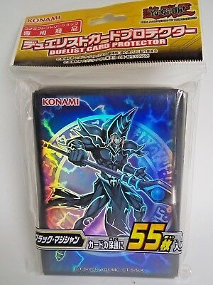 Yugioh Official Card Sleeve Protector  - Dark Magician -  55 pcs  Konami F/S