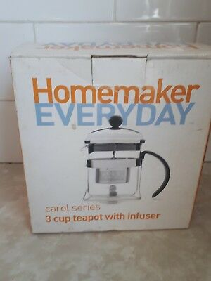 Teapot with infuser 3 cup new in box