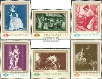 Romania 2576-2581 fine used / cancelled 1967 Paintings