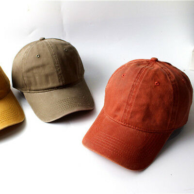 0390ab7ce Baseball Cap Adjustable Hat Vintage Washed Dyed Cotton Twill Low Profile OW