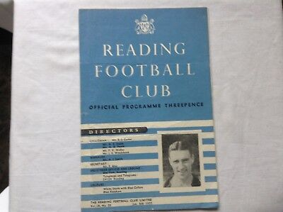 MANCHESTER UNITED:-  READING v MANCHESTER UNITED.  1954-55 F.A.CUP PROGRAM