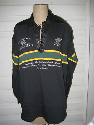 1995 World Cup NZ All Blacks Rugby Jersey 106 of 750 Limited Edition