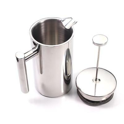 1000ml Coffee Maker Stainless Steel Insulated Double Wall Filter French Press