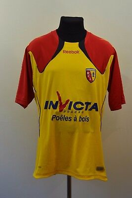 Rc Lens 2010-2011 Home Football Shirt Size L LARGE JERSEY REEBOK