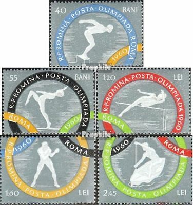 Romania 1853A-1857A unmounted mint / never hinged 1960 Olympics Summer Rome
