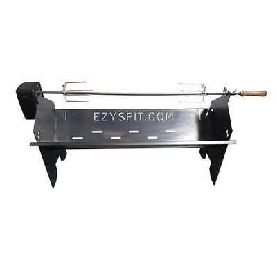 Flat Pack Portable Camping Spit Rotisserie 900mm great for BBQ Spit Roast Gyros