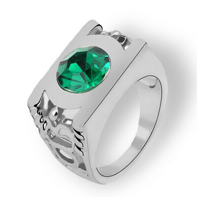 Creative Alloy Ring Cosplay Costume Silver & Green 11 yards Z1F7